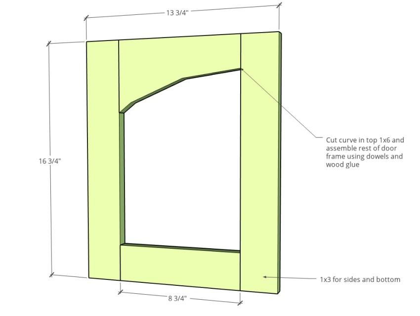 Door dimension diagram