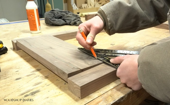 Mark where to drill dowel holes for assembly
