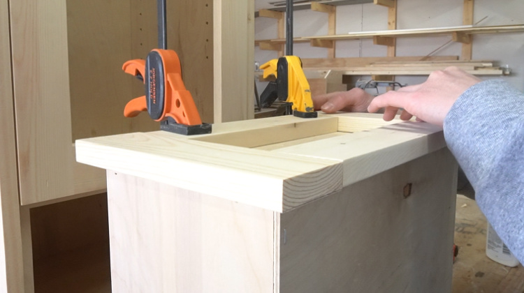 attaching cane linen cabinet drawer front