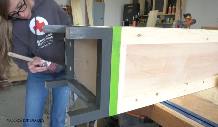 Shara painting linen cabinet base