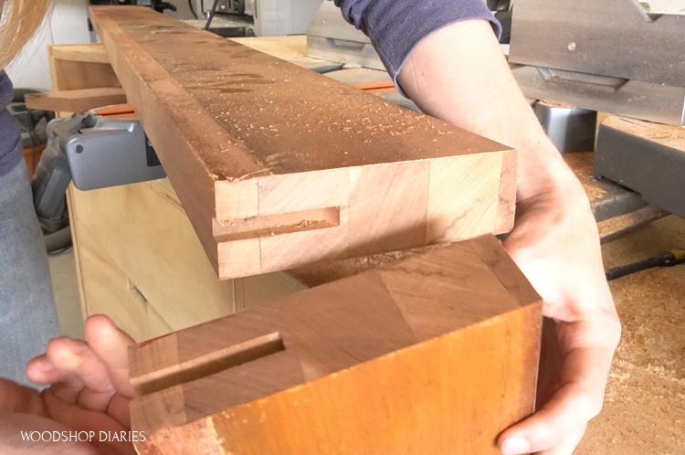 2x2s glued together to make door sides