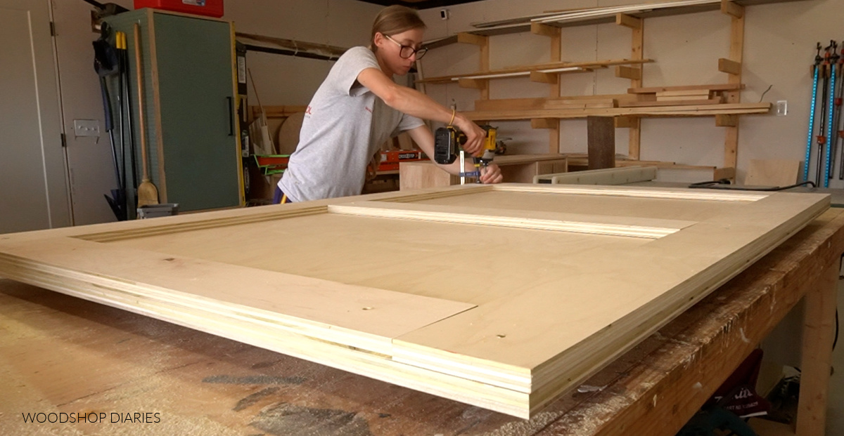 Secure headboard frame to headboard panel