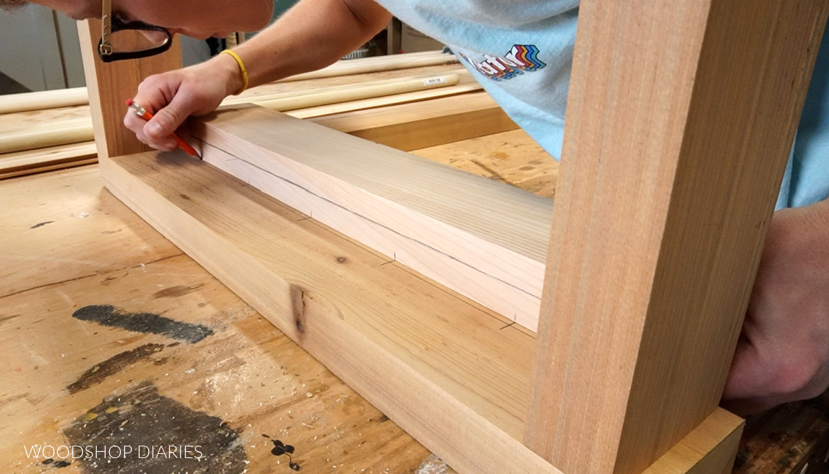 Transfer dowel locations from arm rest to seat frame